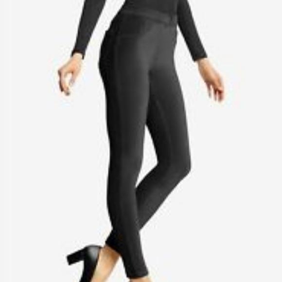 cc3092dd28d5d3 HUE Pants | Black Corduroy Jeanz Leggings | Poshmark